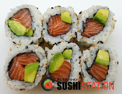 Foto Salmon avocado maki